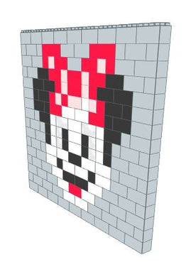 Mosaic Wall - Minnie Mouse - 9 Ft x 6 In x 8 Ft 1 In
