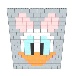 Mosaic Wall - Daisy Duck - 8 Ft x 6 In x 9 Ft 1 In