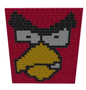 Mosaic Wall - Angry Birds - 15 Ft x 6 In x 16 Ft 1 In