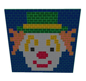 Mosaic Wall - Clown Wall - 17 Ft x 6 In x 15 Ft 7 In