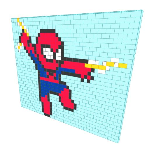 Mosaic Wall - Spider-Man - 20 Ft 6 In x 6 In x 15 Ft 6 In