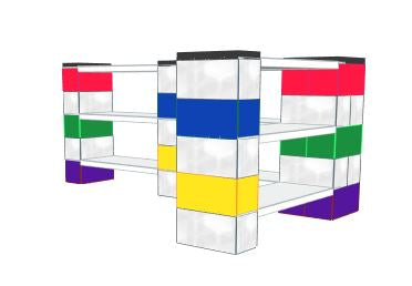 Shelving - Multicolor Shelves