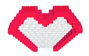 Mosaic Model - Heart - 11 Ft 6 In x 1 ft 6 in 9 Ft