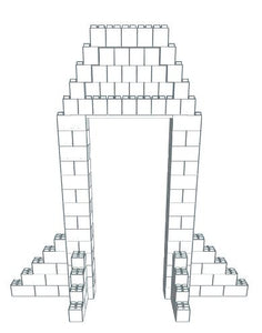 Arch - Rocket Style - 3 Ft W Opening - 10 x 5 x 9 Ft 6 In