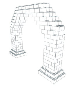 Arch - 8 Ft W Opening - 13 Ft x 2 Ft 6 In x 9 Ft 7 In *Build Requires Securing Pins*