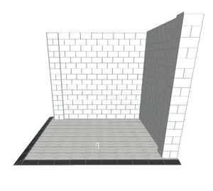 Booth - Corner Style W/ Floor - 10 x 10 x 8 Ft