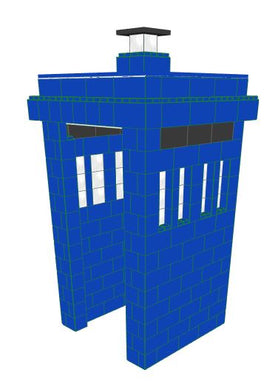 Phone Booth - Police Call Box - Dr. Who Tardis - 4 x 4 x 8 Ft 7 In