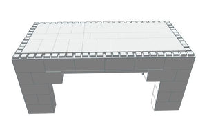 Table - Coffee Table - 3 x 6 x 2 Ft 7 In