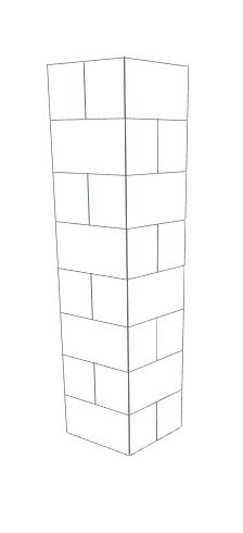 Plinth / Display Pedestal - 1 x 1 x 4 Ft 1 In