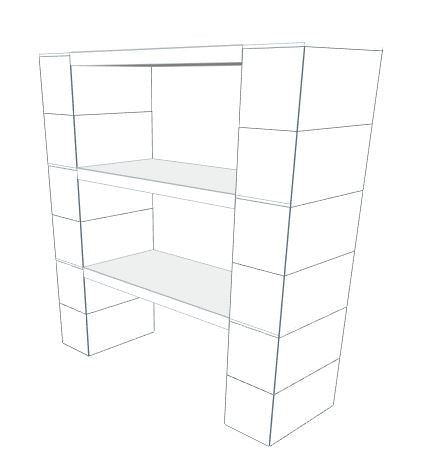 Shelving - 3 Level, 36
