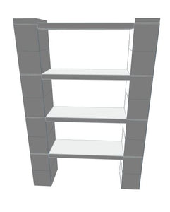 "Shelving - 4 Level, 36""W EverBlock Shelving Kit"