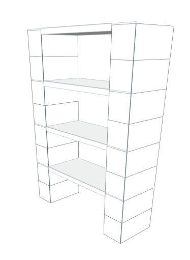 Shelving - 4 Level, 36