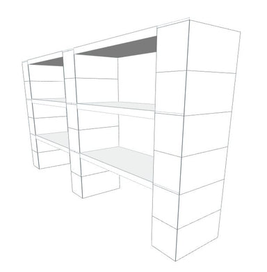 Shelving - 3 Level, Double Shelf, 72