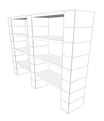 Shelving - 4 Level, Double Shelf, 72