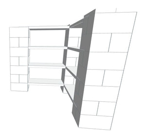 Shelving - 4 Level Corner Shelving Kit A/Thick Columns