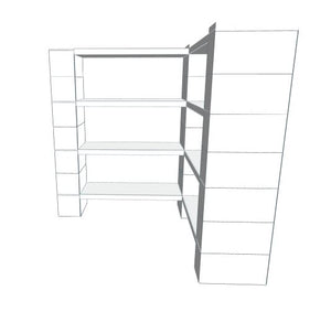 Shelving - 4 Level Corner Shelving Kit B/Thin Columns