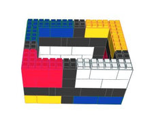 "Load image into Gallery viewer, Table Base - ""Mondrian"" Style Coffee Table - 4 x 3 x 2 Ft 1 In"