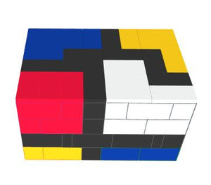 "Table Solid ""Mondrian"" Style Coffee Table -"