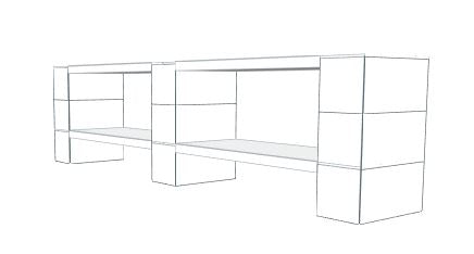 Shelving - 2 Level, Double Shelf, 72