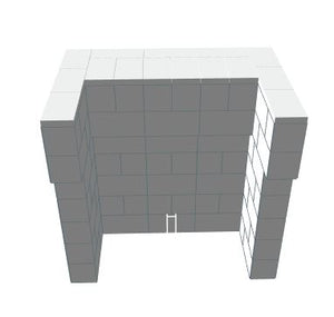 Bar - U-Shaped W/ 2 Layer Cantilever - 4 Ft