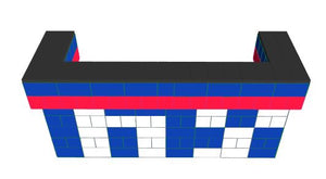 Favorite Teams - Bar - New York Giants - 8ft U-Shaped W/ 2 layer cantilever wings