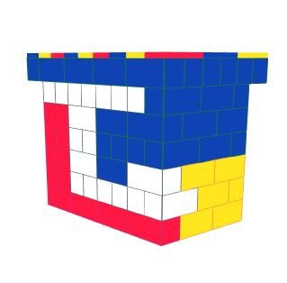 Favorite Teams - Bar - University of Kansas - 4 x 3 x 3 Ft 7 In