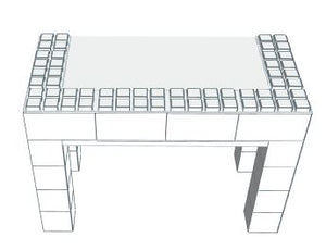 "Desk - 24"" x 48"" Open Sides Desk *Build Requires Securing Pins*"