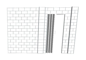 L Shaped Wall - W/ Door - 12 x 12 x 8 Ft