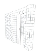 Load image into Gallery viewer, L Shaped Wall - W/ Door - 12 x 12 x 8 Ft
