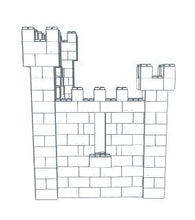 Load image into Gallery viewer, Castle - Small L-Shaped - 9 x 6 x 8 Ft