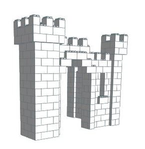 Castle - Small L-Shaped - 9 x 6 x 8 Ft