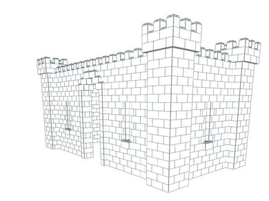 Castle - 3 Sided - 20 x 10 x 10 Ft