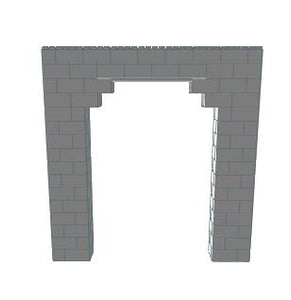 Arch - 5 Ft Wide Opening - 8 Ft x 1 Ft 6 In x 8 Ft