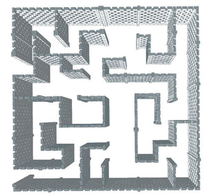 Maze - Stagger Pattern - Version B - 40 x 40 Ft