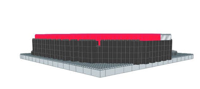 Model - Baseball Stadium - 16 x 16 x 3 ft