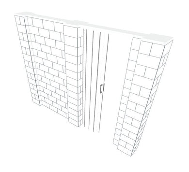 EverBlock Wall Kit - W/ Door - 10' X 7'
