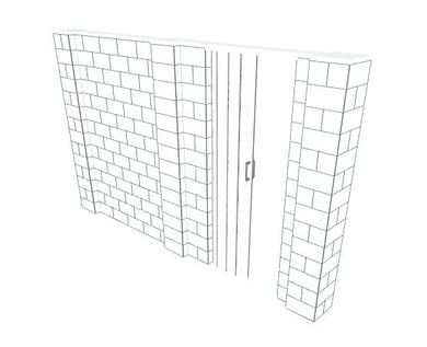 EverBlock Wall Kit - W/ Door - 12' x 7'