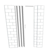 Load image into Gallery viewer, EverBlock L Shaped Wall Kit - W/ Door - 6' x 8' x 7'