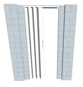 EverBlock Wall Kit - W/ Door - 6' X 7'