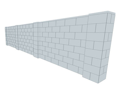 Partition Wall - 20 x 4 Ft
