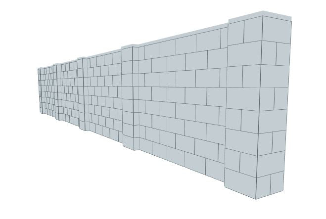 Partition Wall - 25 x 4 Ft