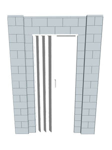Simple Wall - W/ Door - 6 x 8 Ft