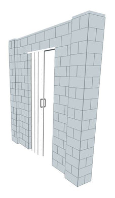Simple Wall - W/ Door - 8 x 8 Ft