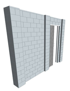 Simple Wall - W/ Door - 11 x 8 Ft