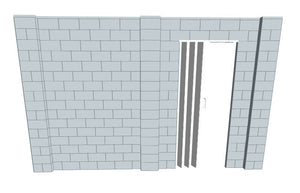 Simple Wall - W/ Door - 13 x 8 Ft