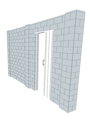 Simple Wall - W/ Door - 14 x 8 Ft