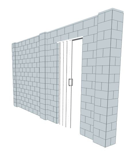 Simple Wall - W/ Door - 15 x 8 Ft