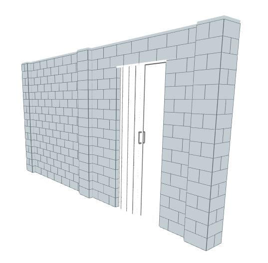 Simple Wall - W/ Door - 16 x 8 Ft