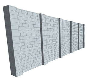 Simple Wall - 30 x 10 Ft