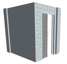 Load image into Gallery viewer, L Shaped Wall - W/ Door - 8 x 6 x 8 Ft